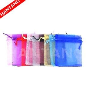 Image 3 - 50 шт. 7x9 9x12 10x15 13x18 см органза подарочные пакеты ювелирные изделия Искусственные Украшения для вечерние Выдвижная сумка подарок белый 5z