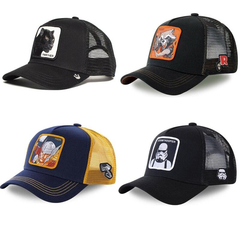 Thor Baseball Cap Black Panther Stormtrooper Rocket Raccoon ROC4 Comics Black Trucker Hat Mesh Cap THO1 Dad Hat Snapback