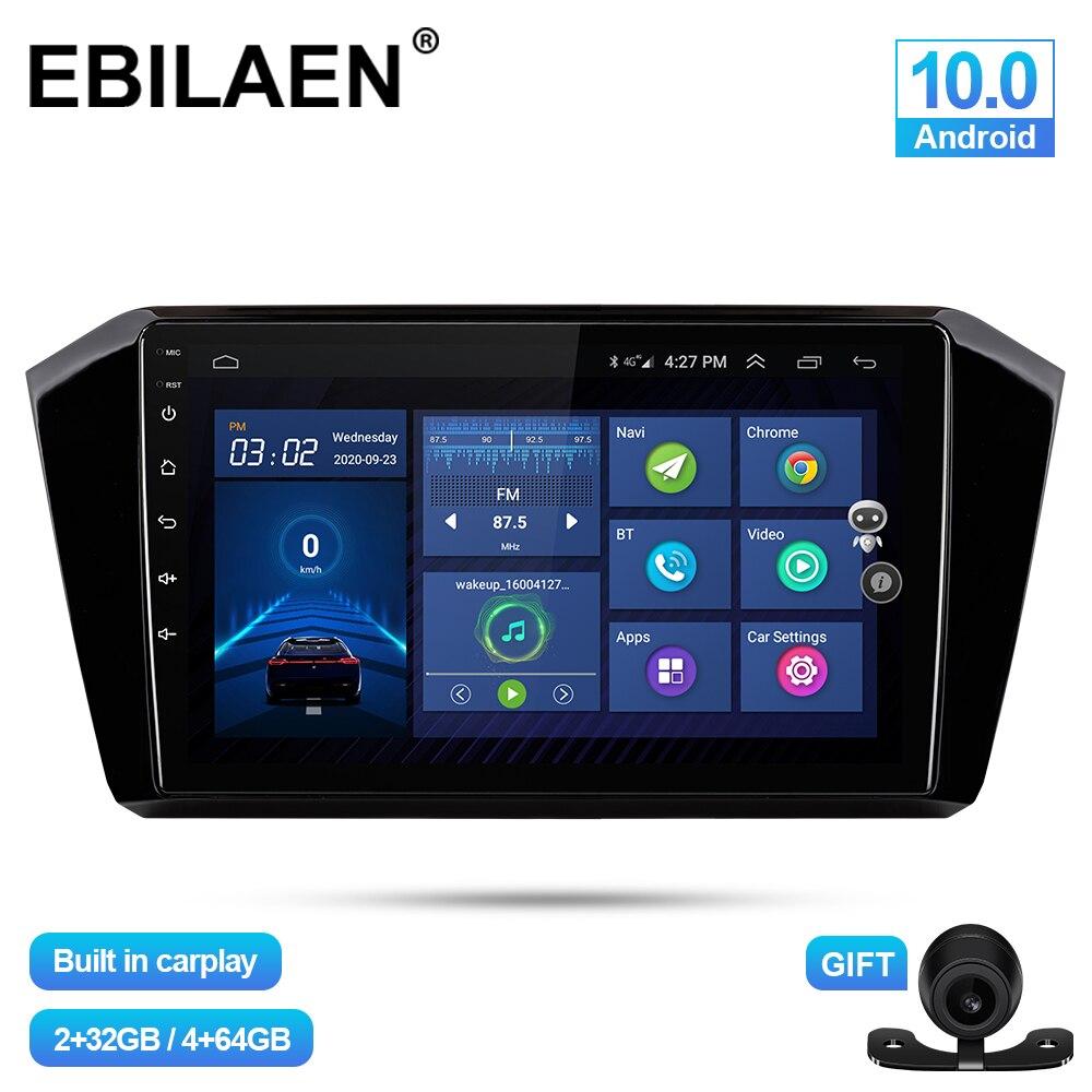 Автомобильный Радио мультимедийный плеер для VW Passat b8 2015-2020 2Din Android 10,0 авто радио GPS навигация скотч рекордер DSP IPS головное устройство