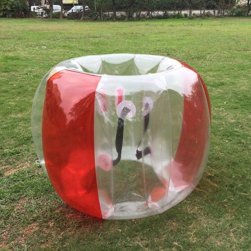 Забавный открытый вид деятельности ПВХ надувной пузырь ударный бампер буферный мяч Обучение Бег Спорт Семейная Игра тело костюм Loopy мяч