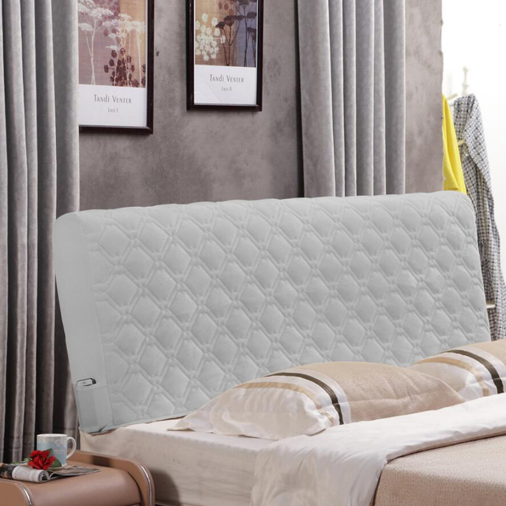 """Dust-proof Stretch Headboard Cover Protector Bedroom Decoration 55-67/"""" Width"""