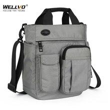 Erkekler çok fonksiyonlu omuz askılı çanta ile kulaklık delik su geçirmez naylon seyahat el çantası büyük kapasiteli saklama torbaları XA11C