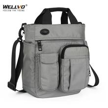 Männer Multifunktionale Schulter Messenger Tasche mit Kopfhörer Loch Wasserdichte Nylon Reise Handtasche Große Kapazität Lagerung Taschen XA11C