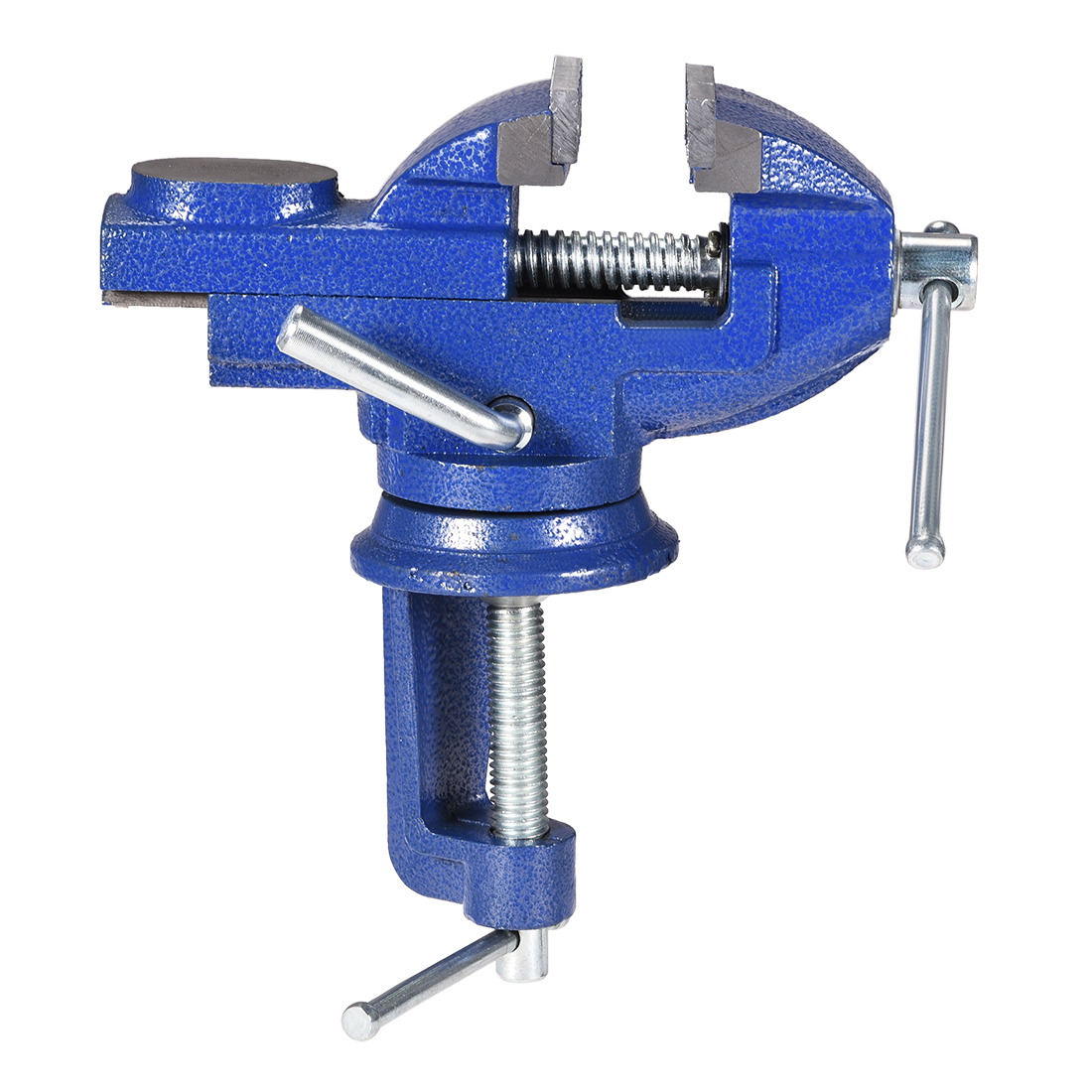 uxcell Clamp Vise 2-Inch (50mm) Carbon Steel Jaws 360 Degree Swivel Table Bench Vise Clamp-On Vise