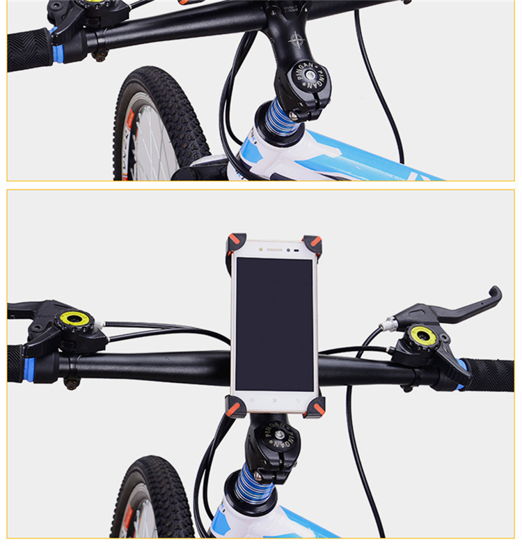 Universal Bicycle/Motorcycle Phone Holder With Secure Grip For Car Bike 11