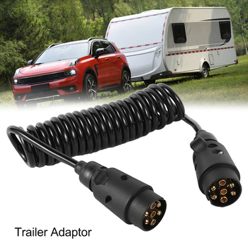 цена на 3m 7pin 12v Cable Trailer Connector Connect Trailer and Power Supply Suitable for Signal Light Display for Cars and Ships
