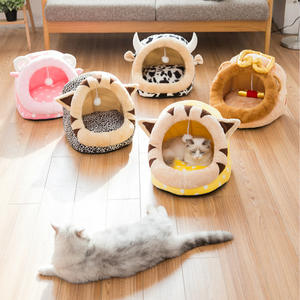 Cat Bed Pet Plush Cat Bed House Soft Cat Bed Mat Kennel Winter Puppy Warm Sleeping Blanket Portable Cat Supply