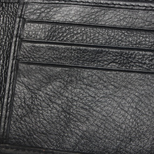Men Short Embossed Stitching Style Wallet Black Color Cheap 100% Genuine Leather Wallet For Man Coin Purse Card Holder