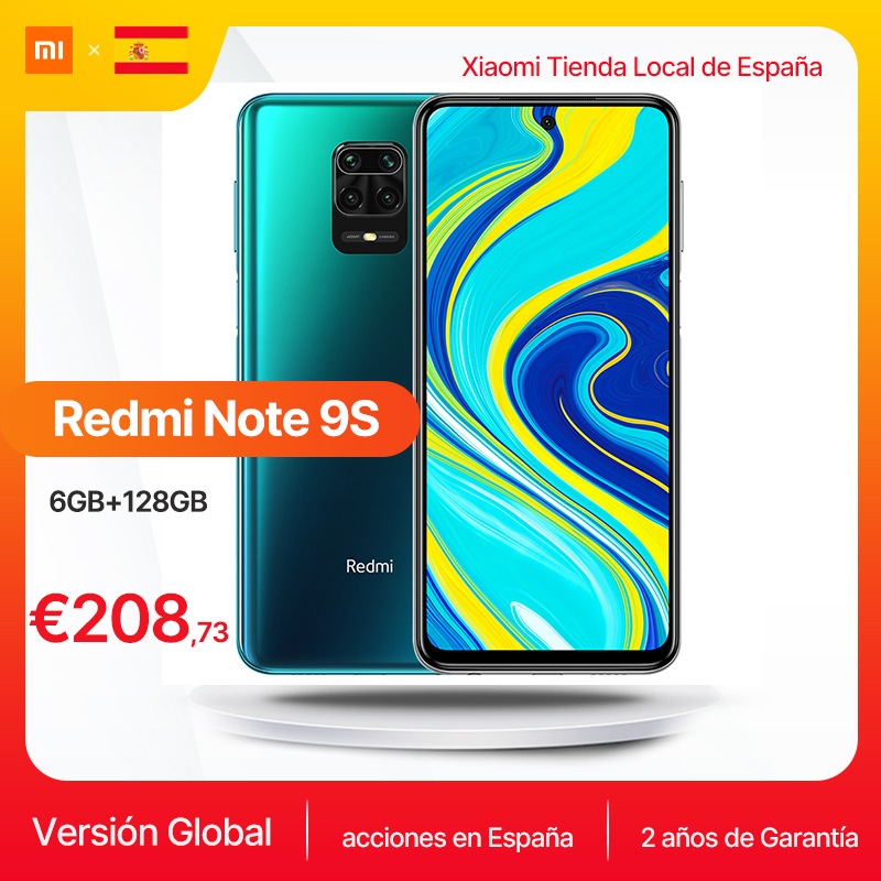 New Xiaomi Redmi Note 9S Global Version 6GB 128GB Note 9 S Snapdragon 720G 6.67