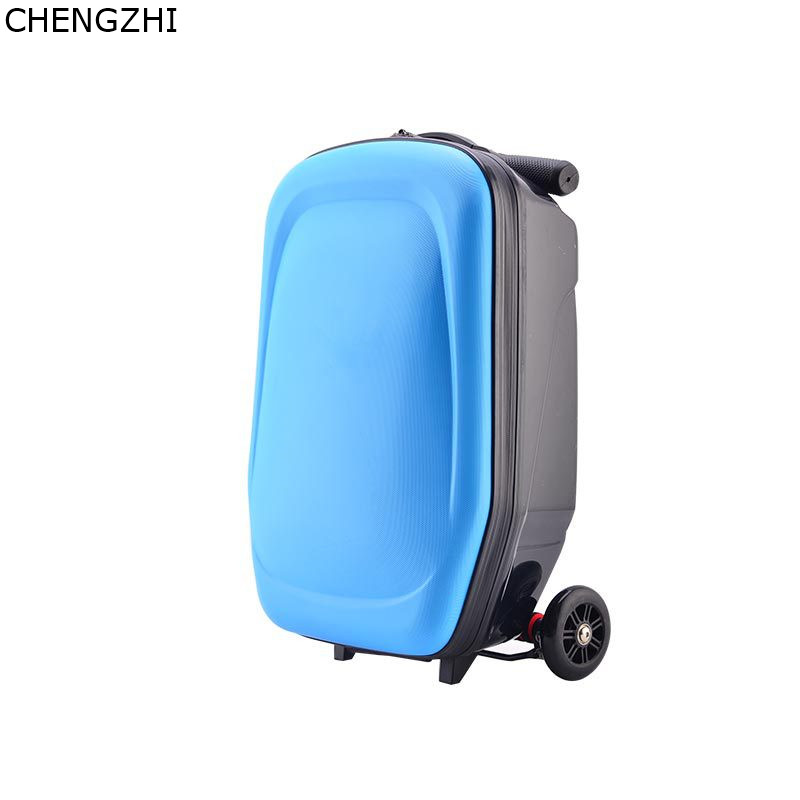 Suitcase Scooter Luggage Travel Trolley Cabin Carry On Wheels-Skateboard 20--Inch Teenager