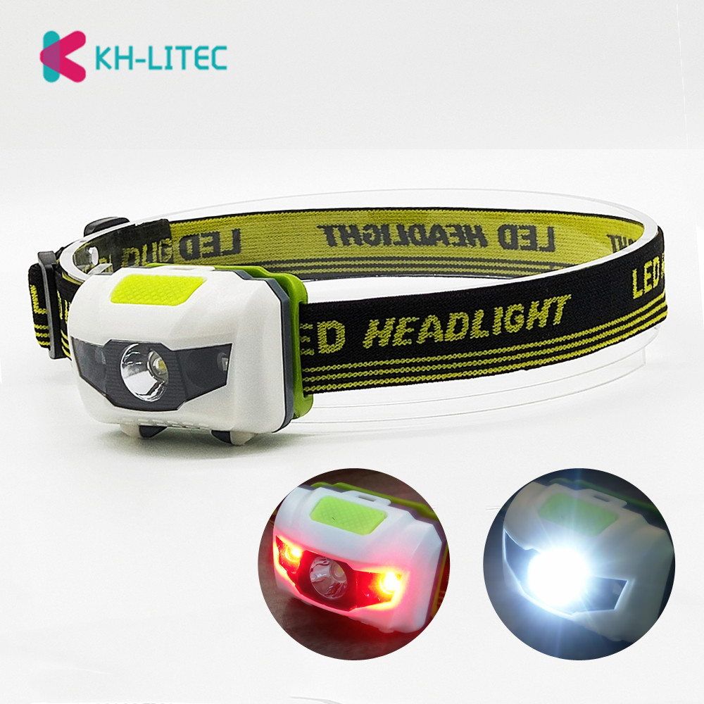Portable Mini Led Headlamp 4 Modes Headlight Head Flashlights Torch Lamp Light Hiking Camping Light For Fishing Riding Cycling