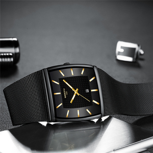 Image 2 - Blau NIBOSI Chronograph Platz Uhr Custom Design Sport Männer Uhren Wasserdicht Kreative Uhr Mann Armbanduhr Relogio Masculino