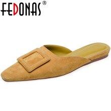 Sandals Women Wedding-Shoes FEDONAS Low-Heels Fashion Summer Autumn Sweet Button-Decoration