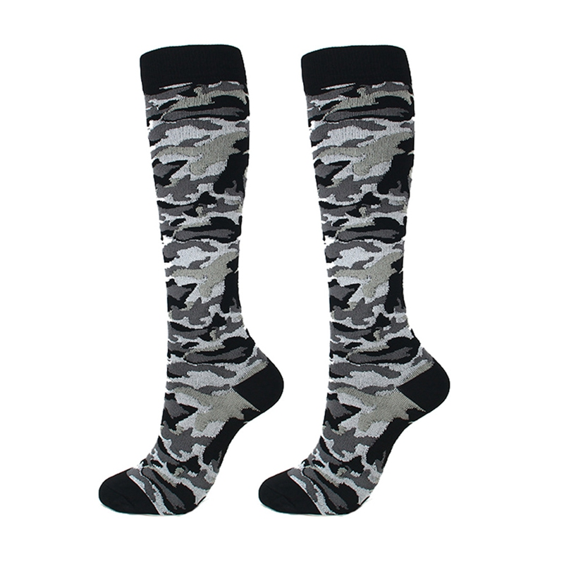 Compression Socks Unisex Running Socks Sports Compression Socks Support Unisex Outdoor Camouflage Racing Long Pressure Stockings