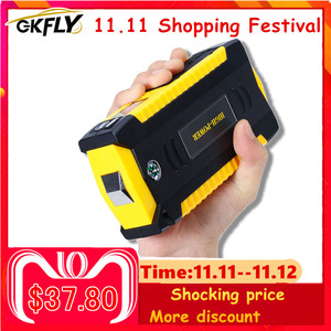 Image 1 - GKFLY High Capacity 16000mAh Starting Device Booster 12V Portable Car Jump Starter Cables Power Bank Car Starter Battery Charger