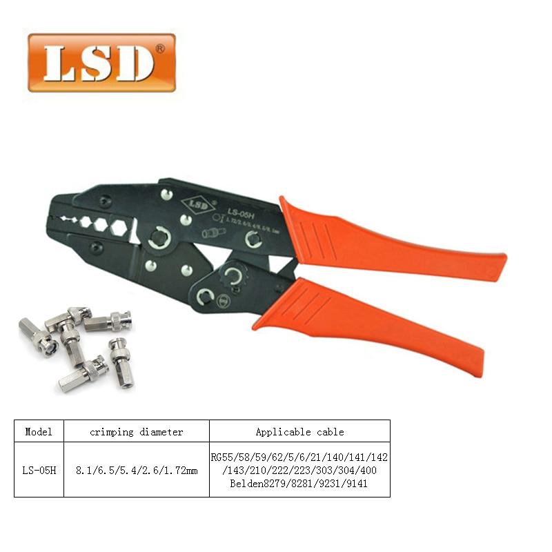 1 x Coaxial Cable Ratchet Crimping Crimper Plier Cable RG59 RG6 VIDEO CABLE