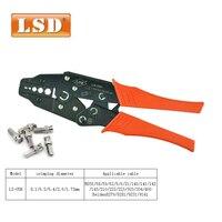 Rg58 rg59 rg6 cabo coaxial ferramenta de friso uso para friso bnc sma conectores eletricista coaxial friso alicate fio crimper