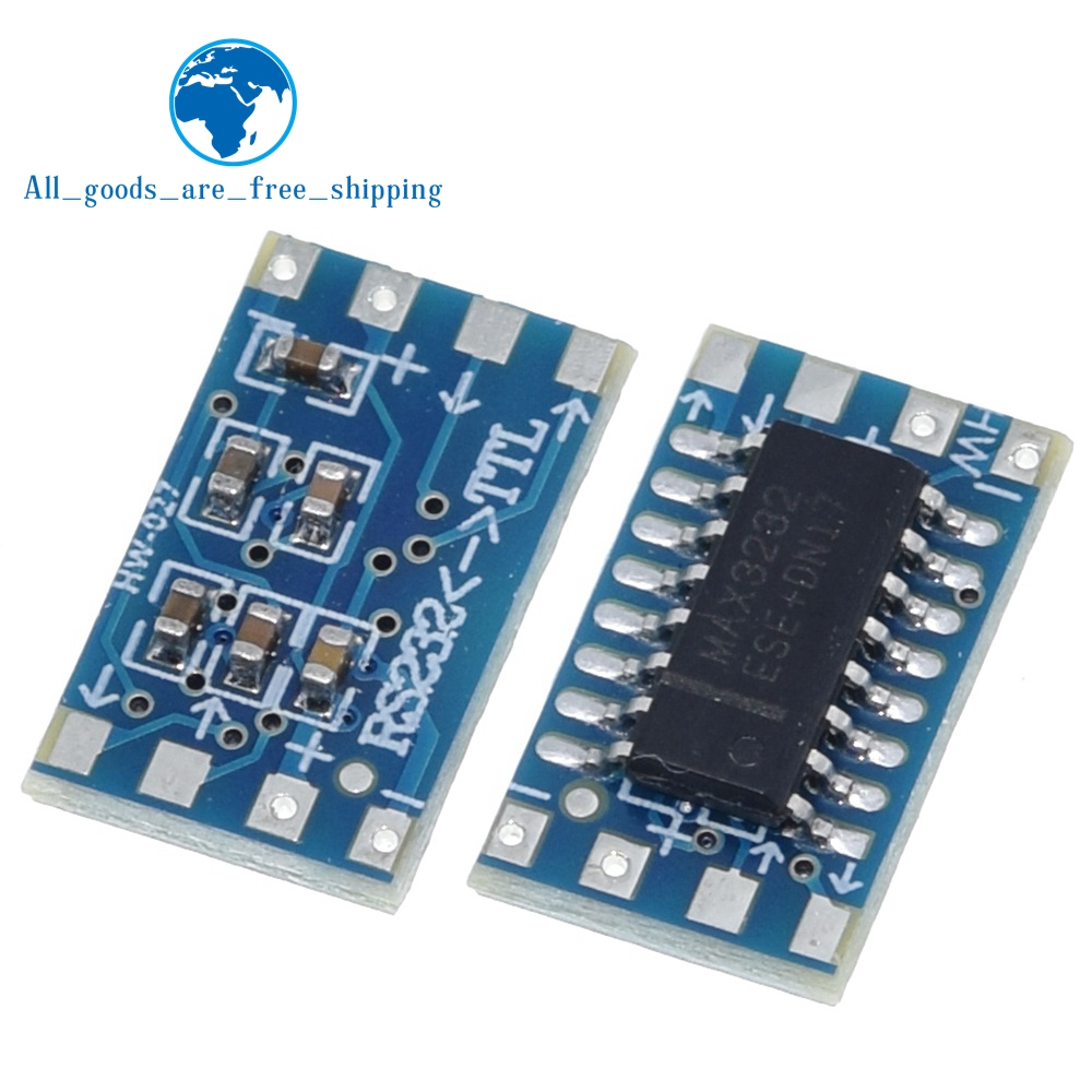 TZT 10 pçs/lote mini RS232 MAX3232 Níveis a bordo conversor de nível TTL conversor serial board Dropshipping