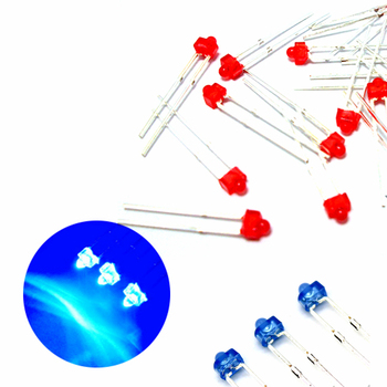 100Pcs Diffused 1.8mm Through Hole High Brightness LED Diode, Red/Yellow/Green/Blue/Orange image