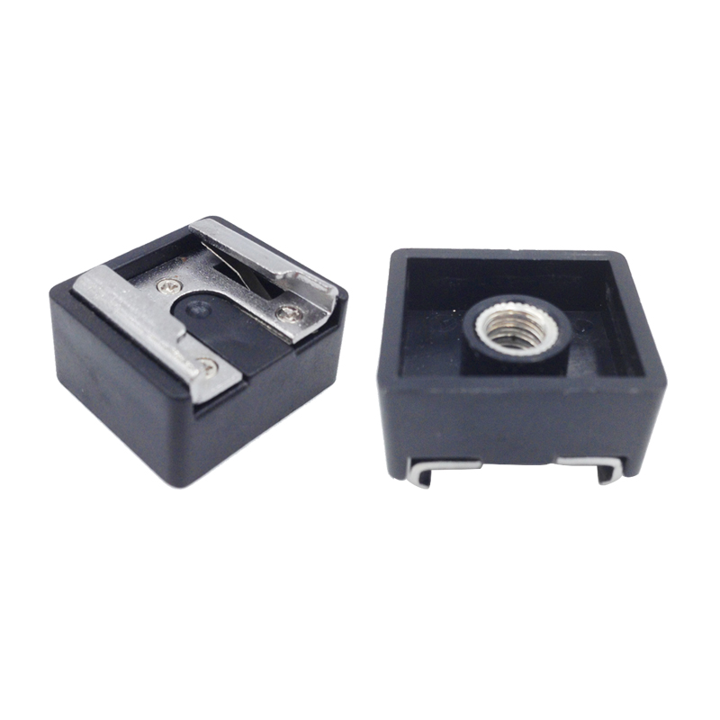 FFYY-2Pcs Flash Hot Shoe Mount Adapter To 1/4 Inch Thread For Studio Light Stand Tripod