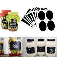 Etiquetas adhesivas de pizarra impermeables para hogar, 36 Uds., etiquetas de botella, etiquetas de pizarra, pegatinas con marcador