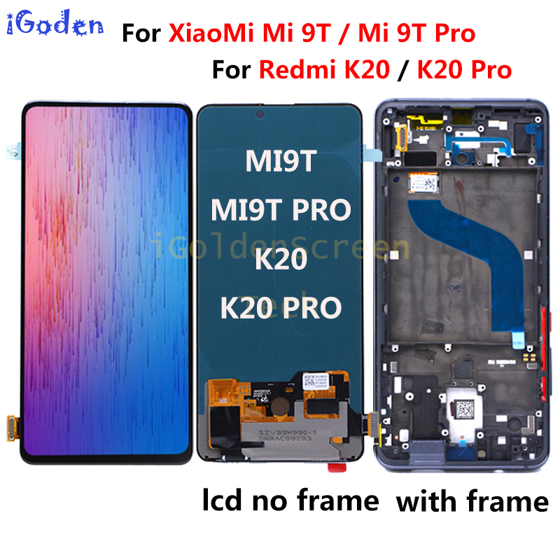 "6.39""For xiaomi mi 9t lcd Display Touch Screen Digitizer Assembly mi 9t pro lcd Replace xiaomi redmi K20 Pro K20 lcd mi 9t lcd(China)"