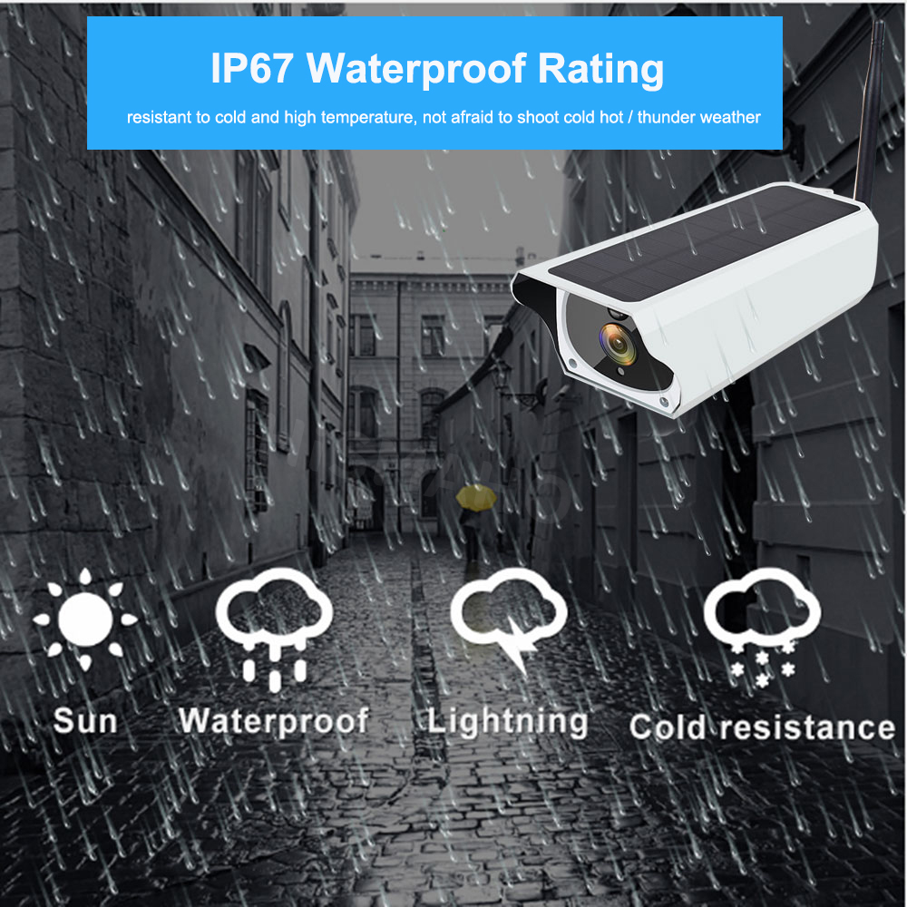 H68f7a42ece2543b0aa52ad191e302d327 Solar WiFi IP Camera 1080P HD Outdoor Charging Battery Wireless Security  Camera PIR Motion Detection Bullet Surveillance CCTV