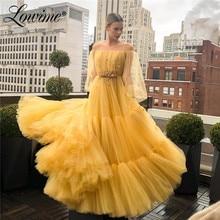 Off Schulter Handgemachte Perlen Applique Prom Kleider 2020 Maß Partei Kleid Vestidos De Noche Largos Elegantes Abendkleid