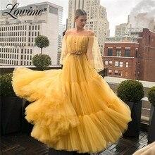 Uit Schouder Handgemaakte Kralen Applique Prom Dresses 2020 Custom Made Party Dress Vestidos De Noche Largos Elegantes Avondjurk