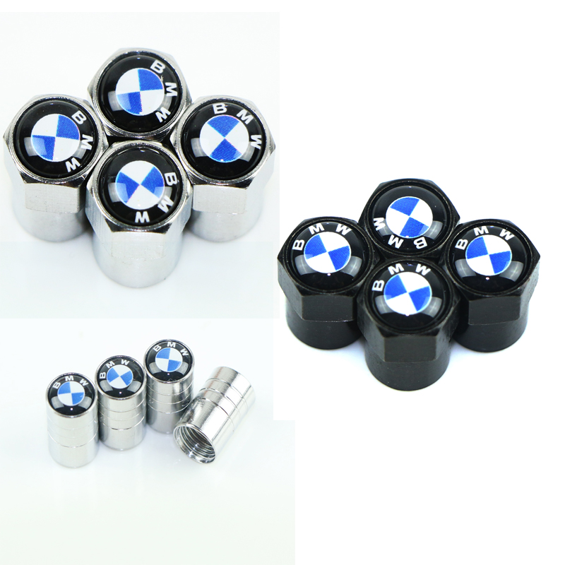4 PCS Sport Styling Car Wheel Tire Valve Caps Case for Bmw e46 e90 e60 e39 f30 e36 f10 title=