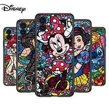 Silicone Cover Disney Mosaic Stitch Princess For Apple IPhone 12 Mini 11 Pro XS MAX XR X 8 7 6S 6 Plus 5S SE Phone Case