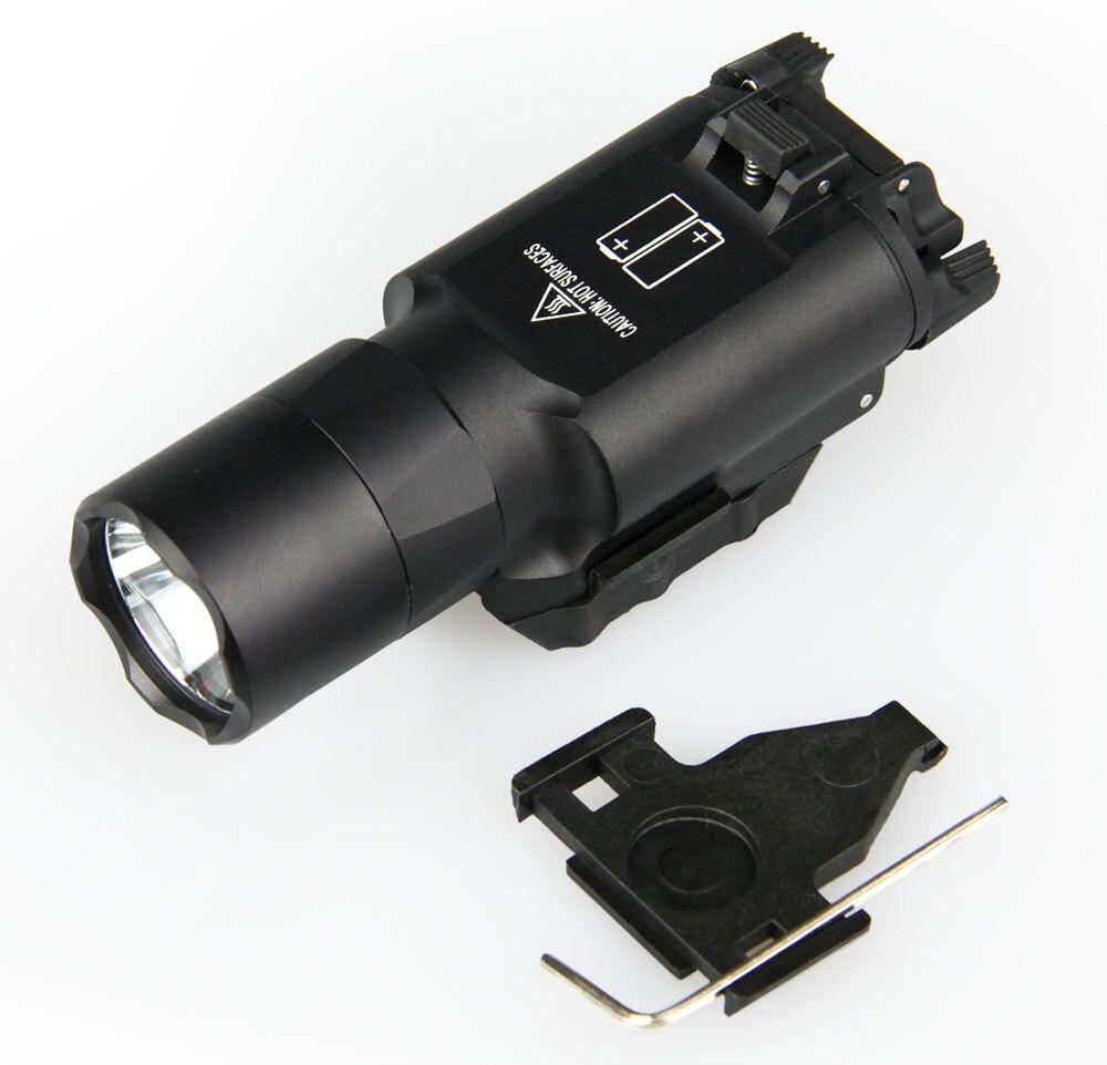 arma luz pistola lanterna airsoft com picatinny