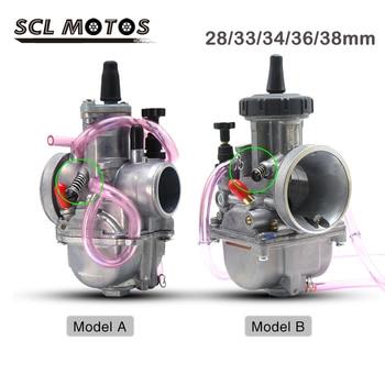 SCL-Carburador de motocicleta PWK, 28mm, 33mm, 35mm, 36mm y 38mm, para motor 2T, 4T, 100cc-350cc