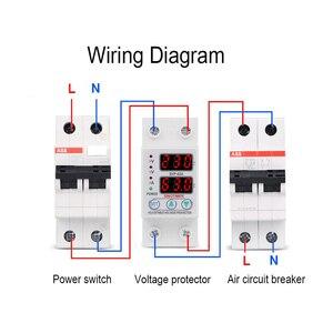 Image 5 - Protecteur de relais des surtensions 63a, 220V 230V, dispositif de Protection des surtensions, courant réglable