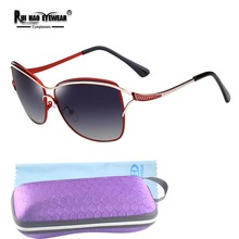 روي هاو نظارات ماركة نظارات الموضة النساء الاستقطاب النظارات الشمسية النساء شعبية الطيار نظارات شمسية oculos دي سول KM8116