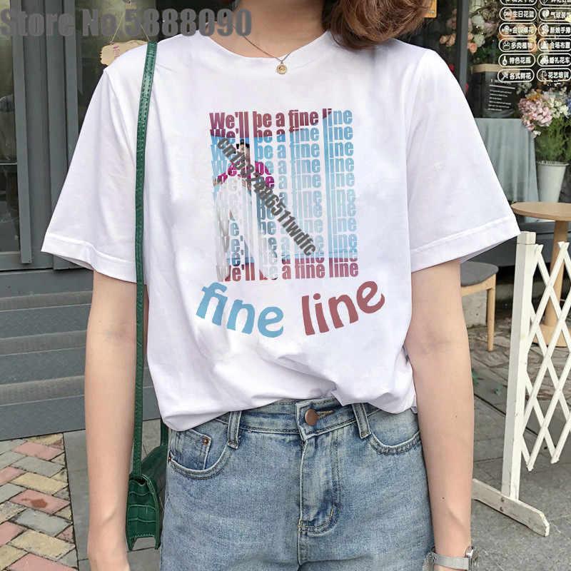 2020 Harry Stijlen T-shirt Vrouwen Harajuku Tee Esthetische Streetwear Kleding Ulzzang Tshirt Vintage Hip Hop Mode T-shirt Vrouwelijke