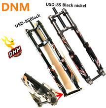 2018 החדש est DNM USD 8s DH FR קדמי מזלג אופני השעיה אוויר 26 27.5 מזלג נסיעות 203mm, על חם מכירות! רוק shox downhill
