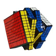 Shengshou 10.2cm 10Layer 10x10x10(PVC Sticker)Black Base With Stickers Sengso Magic Cube 10*10*10 Puzzle Speed