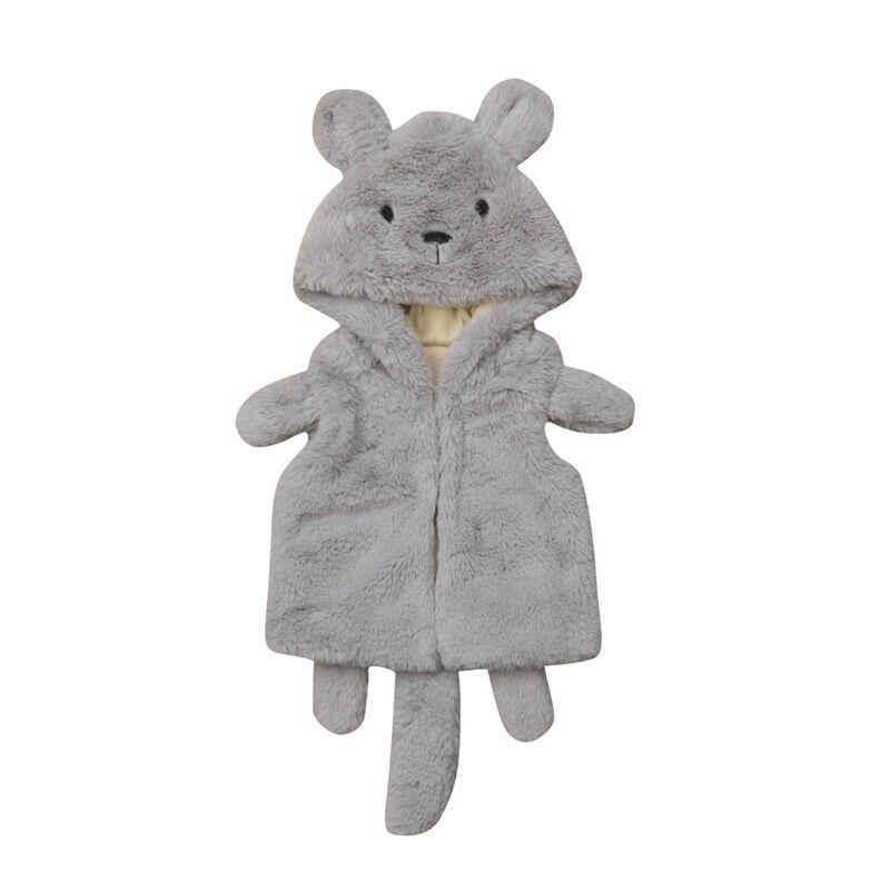UK Kids Boys Girls Winter Fluffy Fur Vest Gilet Waistcoat Coat Bodywarmer Jacket