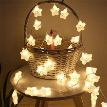Светодиодный светильник со смайликами и звездами; Милые гирлянды