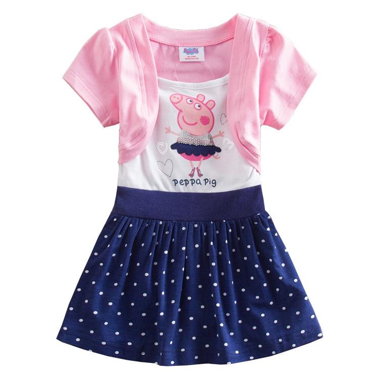 Peppa Pig Original Dolls Toys Lovely Kids Girl Princess Dress Girls Lace Peppa Pig Girl Dress Gifts Peppa Pig Original Dolls