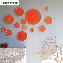 Handmade Cotton Lace Accessory Decoration Nature Bamboo Cases Jewelry Display Earring holder