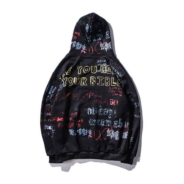 ICPANS Hip Hop Graffiti Hoodies Mens Oversize Casual Pullover Sweats Hoodie Male 2019 Autumn Fashion Skateboards Sweatshirts 5