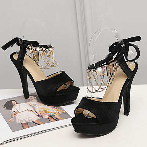 Size Lớn 11 12 Nữ Mùa Hè Nền Tảng Giày Nữ Giày Nữ Người Phụ Nữ Tán Đinh Nước Mũi Khoan Sau Khi Ban Nhạc Mỏng ngón Chân Dày Dặn