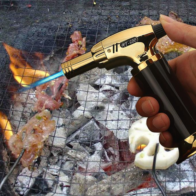 High Capacity Turbo Torch Lighters Smoking Accessories Kitchen lighter Gas Lighter Cigar Cigarettes Lighter Gadgets For Men in Matches from Home Garden