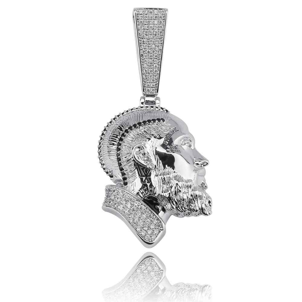 Gucci Nipsey hustle męska czaszka wisiorek naszyjnik osobowość łańcuch złoto srebro Iced Out cyrkonia Hip hop Rock biżuteria