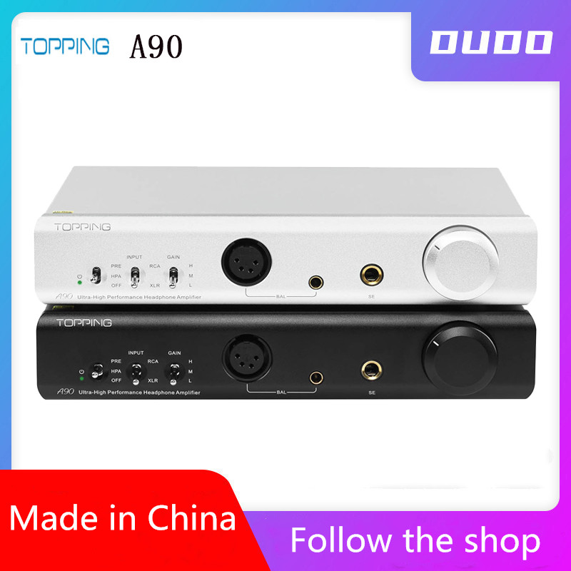 TOPPING A90 Full Balanced Headphone Amplifier XLR Pre-Amplifier Headphone Amp  Bluetooth Headphone Amplifier