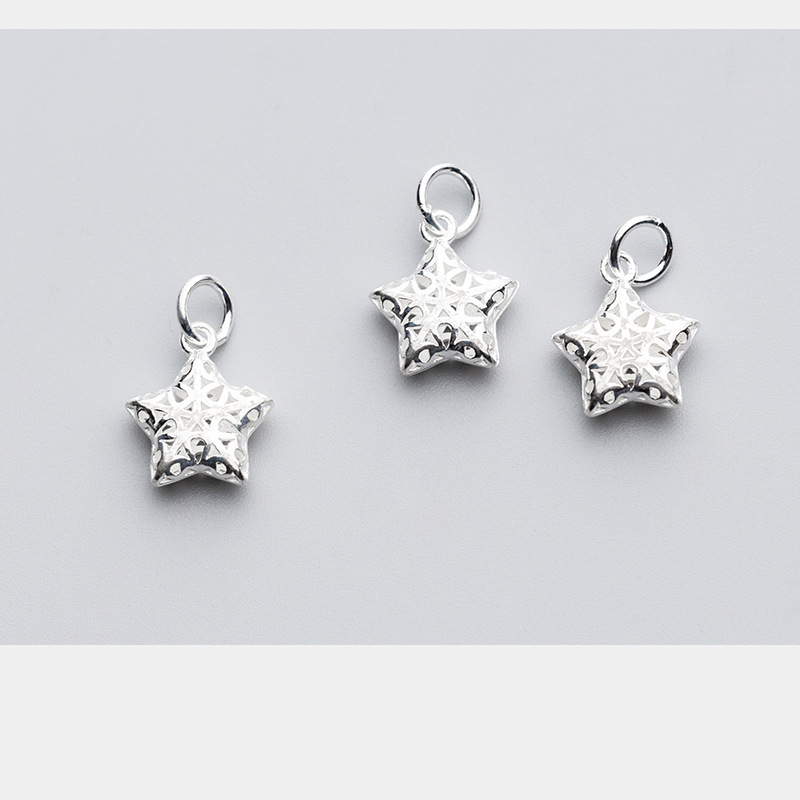 Handmade 925 Sterling Silver Starfish Pendant sterling silver Necklace 29x17mm