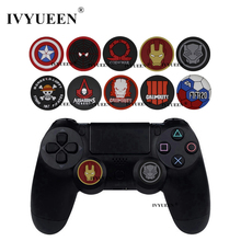 IVYUEEN 2 pcs Grips Cover for Dualshock 4 PS4 Pro Slim Controller for XBox One X S 360 for Switch Pro Thumb Analog Stick Caps