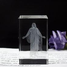 Церковные свадебные сувениры хрусталь кубик Иисуса 3d кварцевые